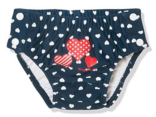 Playshoes Baby-Mädchen UV-Schutz Windelhose Herzen zum Knöpfen Schwimmwindel, Blau (Marine 11), (Herstellergröße: 86/92)