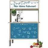 Limmaland Aufkleber passend für Deine IKEA DUKTIG Kinderküchen Rückwand (Farbe Blau) - Möbel Nicht inklusive