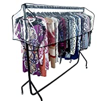 HANGERWORLD 6ft Clear Garment Rail Clothes Dust Protector Storage Cover Only