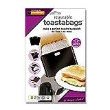Toastabags Toast-Taschen, Schwarz, bis zu 300 Mal Wiederverwendbar, 5er-Packung, Acryl, Schwarz, 5 Stück