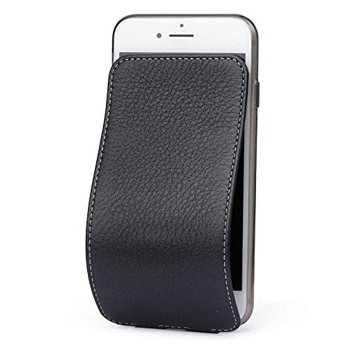 Marcel-Robert - Lederhülle für iPhone 8 Plus - patentiertes Model - aus Echten Kalbleder - Premium-Qualität - Hergestellt in Frankreich - [ SCHWARZ ] - Französisch-kalb-leder