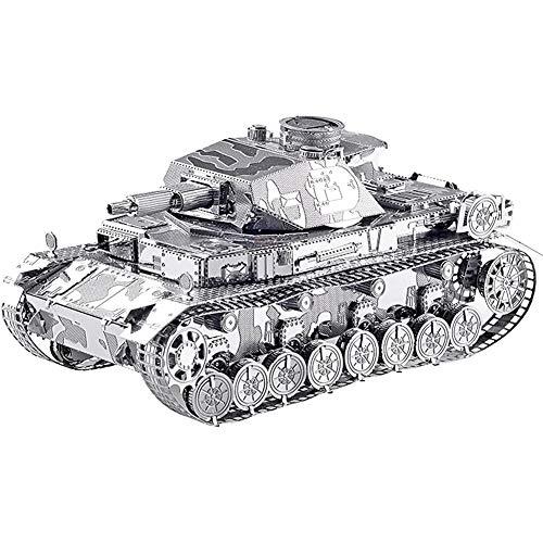 Metal Puzzle IV Panzer,Metal Craft Kits Rätselspiele Mechanische Zahnräder Set Best Metal Toys für Erwachsene & Kinder - Zahnrad-puzzle