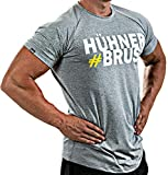Satire Gym Fitness T-Shirt Herren - Funktionelle Sport Bekleidung mit Satire Charakter Motive - Geeignet Für Workout, Training - Slim Fit (#Hühnerbrust grau, M)