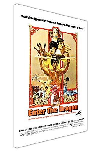 """CANVAS IT UP Filmposter """"Enter The Dragon"""" Bruce Lee, gerahmt, canvas holz, 07- A1-34"""" X 24"""" (86CM X 60CM)"""