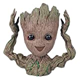 Baby Groot Blumentopf - Marvel Action-Figur aus Guardians of The Galaxy für Pflanzen & Stifte I AM Groot (B)