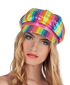 Boland 01370 - Lollipop sombrero con lentejuelas, un tamaño, Multicolor