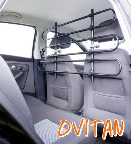 OVITAN Hundegitter fürs Auto 6 Streben universal zur Befestigung an den Kopfstützen der Vordersitze - für alle Automarken geeignet - Modell: V06 -