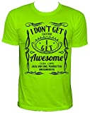 NEON I get awesome Party Herren T-Shirt,neongrün,M