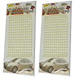 Anokhi ADA Half Pearl 6 mm Diameter Crystal Bead Sticker Sheet (Set Of 2 Sheets) (SAA-0015)
