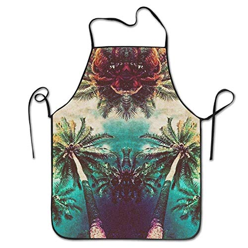Kostüm Walking Tree - Drempad Schürzen Silhouettes of Palm Trees Deluxe Aprons Personalized Printing Kitchen Apron