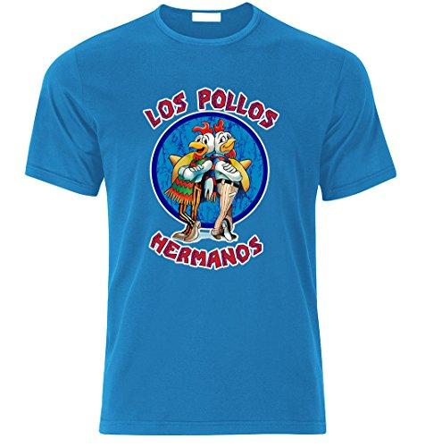 LOS POLLOS HERMANOS BREAKING BAD HEISENBERG T Shirt S/M/L/XL/XXL Weihnachtsgeschenke Xmas AZURE BLAU
