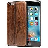 Funda iPhone 6 Plus / 6s Plus, Carcasa Snugg Anti-Impactos para Apple iPhone 6 Plus / 6s Plus [Madera Genuina] Ultrafina Revestimiento de TPU - Nuez