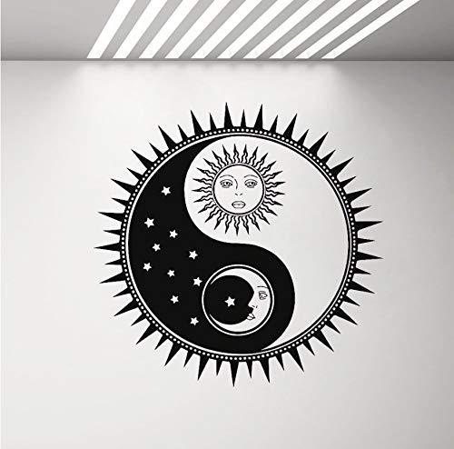 Yin Yang Relativität Wand Vinyl Aufkleber Home Interior Decor Wohnzimmer Abnehmbare Wandtattoo Starke Klebstoff Sun Moon 43x42cm