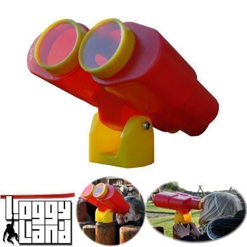 Loggyland Großes Fernglas für Spielturm, Schwenk- und drehbar - rot