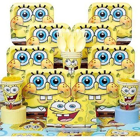 Spongebob Deluxe Kit Serves 8 Guests by COSTUME SUPERCENTER