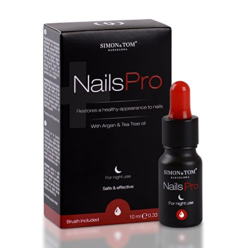 Simon & Tom – NailsPro Night. Premium Fungal Nail Treatment suitable for finger and toe nails. Repairs and Strengthens Nails. Enriched with Tea Tree Oil, Clove and Argan Oil.10 ml