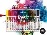 Ecoline Lot de 15 étuis à Crayons et Papier avec Bloc à Dessin 24 x 32 cm 290 g/m²