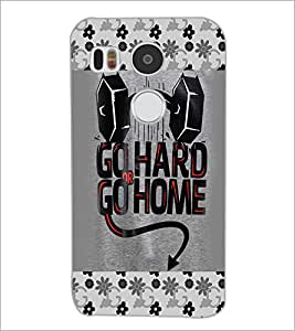 PrintDhaba Quote D-4124 Back Case Cover for LG NEXUS 5X (Multi-Coloured)