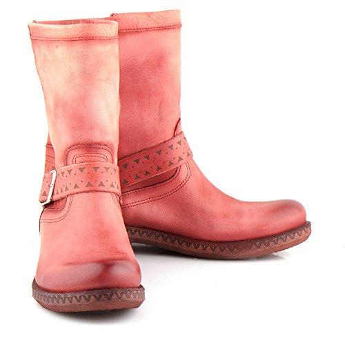 Felmini - Damen Schuhe - Verlieben Beta A232 - Klassik Stiefel - Echte Leder - Rot Rot