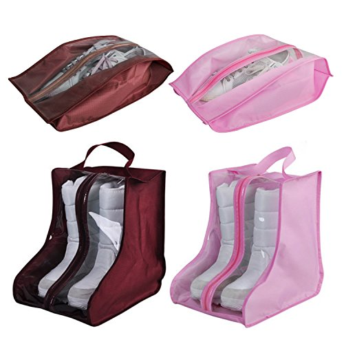 CHRISLZ 4 pack Bolsa de Zapatos Antipolvo Zapatos Impermeables Bolso d