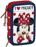 Minnie Mouse Astuccio, 20 cm, Multicolore (Rojo Y Blanco)