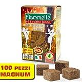 Confezione da 100 Cubetti ACCENDI FUOCO - Lunga Durata - Ecologico - Inodore