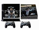 Formula 1 F1 Mercedes AMG Petronas PS4 Skin Sticker Vinyl Aufkleber Schutzfolie zum Konsole & 2 Controller NEU