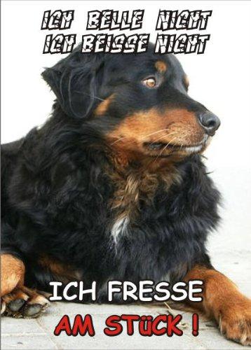 INDIGOS UG - Türschild FunSchild - SE307 DIN A5 laminiert ACHTUNG Hund Berner Sennenhund - für Käfig, Zwinger, Haustier, Tür, Tier, Aquarium
