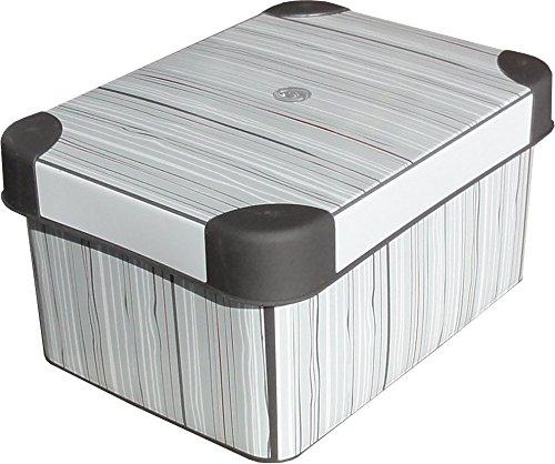 Deco Aufbewahrungsbox Classic 1,9L ca. 19 x 14 x 10 cm Kiste mit Deckel Kunststoff Box