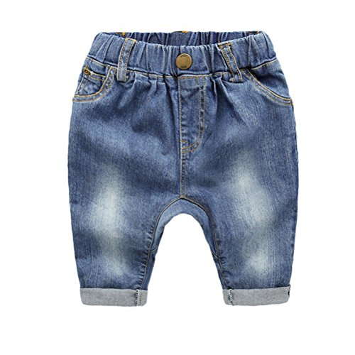 Zhhlaixing Baby Boys Denim Jeans Infant Toddlers Kids Denim Style Pants
