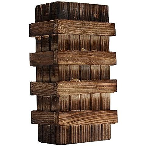 mebare (TM) Vintage Classic cerebro Magic Puzzle de madera caja Puzzle de madera truco secreto Inteligencia secreto cajón