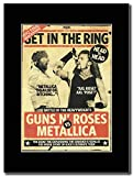 Metallica - Guns N' Roses - Get In the Ring Magazine Promo on a Black Mount