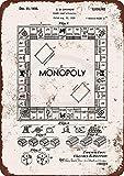 PotteLove 1935 Metallschild, Motiv: Monopoly Game Patent, Vintage, Reproduktion, 8 x 12 cm