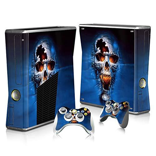 Schutzfolie für Xbox 360 Slim Konsole und Fernbedienungen Skull 2