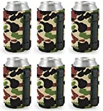6 Pack Camo : Magnetic Neoprene Collapsible Can Coolie (6 Pack Camo)