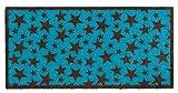 Schmutzfangmatte / Fußmatte / Fussmatte / Fußabstreifer / Fußabtreter / Schmutzmatte Modell ,, stars turquoise