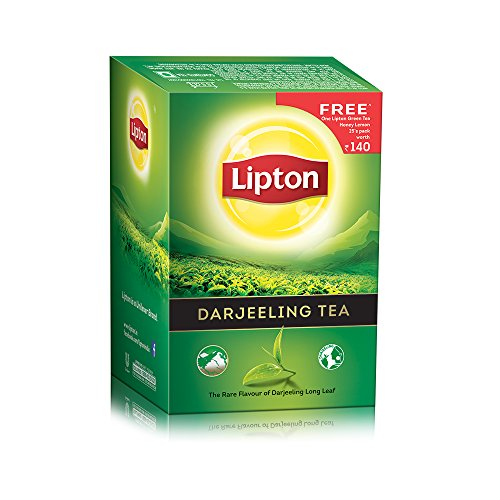 Lipton Darjeeling Tea, 250g With Free Honey Lemon Green Tea Bags, 25 Pieces