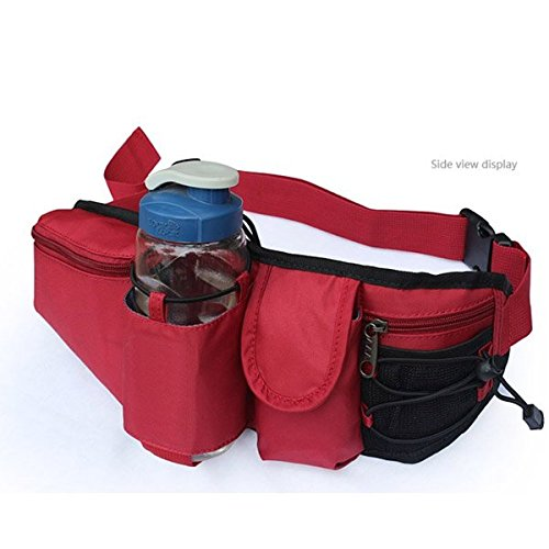 Hôfttasche Wasserflasche Tasche fôr Wandern Bergsteigen Reiten Grau