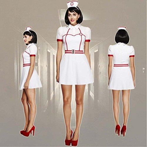 Krankenschwester Kostüm Sexy Schwesternkostüm M 40/42 Faschingskostüm Krankenpflegerin Karnevalskostüm Pflegerin Damenkostüm Nurse Mottoparty Krankenhaus
