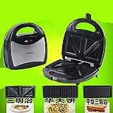 WLM Macchina panino multifunzionale per panini da colazione in acciaio inox con tostapane e tostapane,nero,Taglia unica