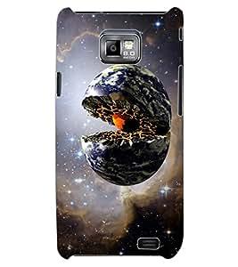 ColourCraft Creative Galaxy Image Design Back Case Cover for SAMSUNG GALAXY S2 I9100