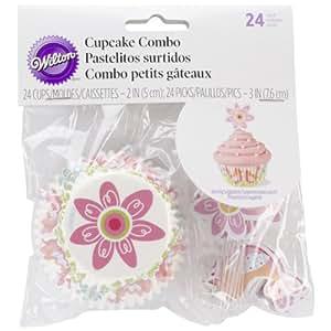 Wilton 415-2099 Cupcake Combo Pack-Spring 24Pack de
