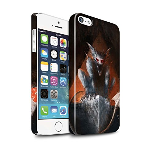Offiziell Chris Cold Hülle / Glanz Snap-On Case für Apple iPhone SE / Pack 6pcs Muster / Wilden Kreaturen Kollektion Vampirfledermaus