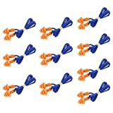 #7: ULTNICE Soft Silicone Corded Ear Plugs Sleep Noise Cancelling Reusable Hearing Protection Earplugs 10 Pairs