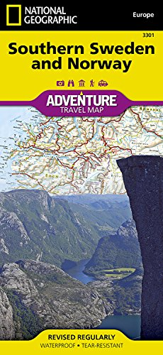 Süd-Schweden und Norwegen: NATIONAL GEOGRAPHIC Adventure Maps