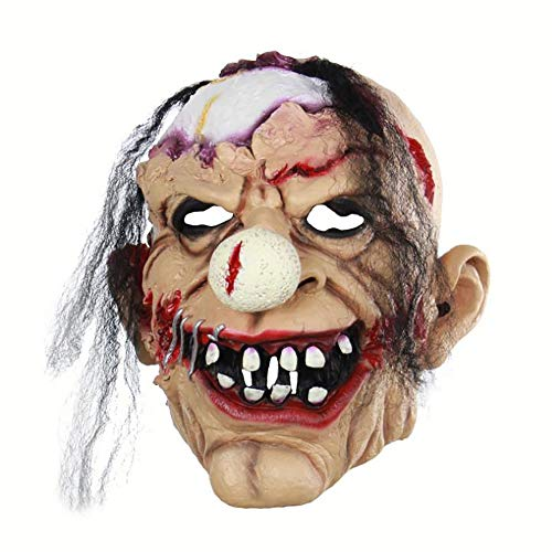 H_y Weihnachten und Halloween Horror Latex Maske, Horror Zombie Clown Latex Kapuze, passend für Halloween Kostüm Party Bar Requisiten - Weiblichen Zombie Clown Kostüm