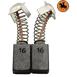 Escobillas de carbón Buildalot Specialty ca-17-55487 para Hitachi Martillo DH 40MB – 7x11x17 mm – Con Dispositivo de desconexión, resorte, cable y conector – Reemplaza partes 981612Z, 999043 & 999073