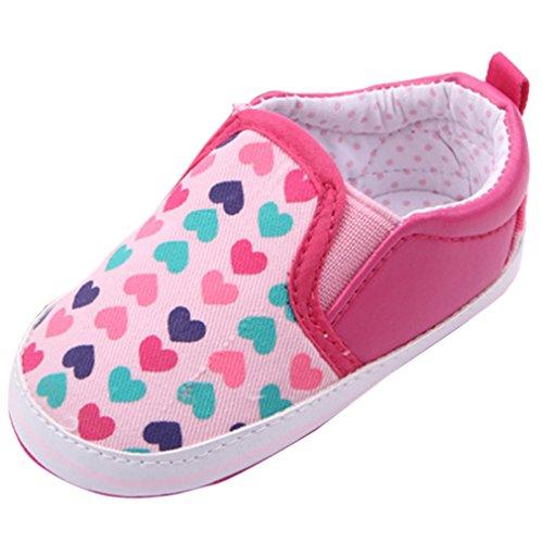 Lukis Baby Lauflernschuhe Canvas Schuhe Turnschuhe Sneaker Slipper Pink