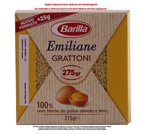 Barilla Emiliane Grattoni all'Uovo 12 x 275g = 3300g Eier 19,36% Eierteigwaren