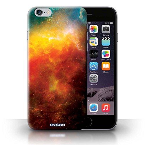 Kobalt® Imprimé Etui / Coque pour iPhone 6+/Plus 5.5 / Planète Verte conception / Série Cosmos Nébuleuse Orange